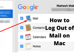 How to Log Out of Mail on Mac