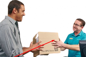 Receiving the Computer from the Parcel Service